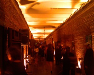 The vaults downstairs at the Mint were lit up and the spaces were packed