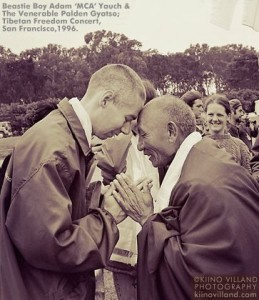 "Beastie Boy Adam ""MCA"" Yauch and The Venerable Palden Gyatso, Tibetan Freedom Concert, SF, CA 1996"