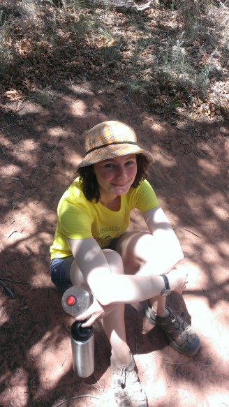 Susannah during her 2013 internship at the Anasazi State Park Museum in Boulder, Utah