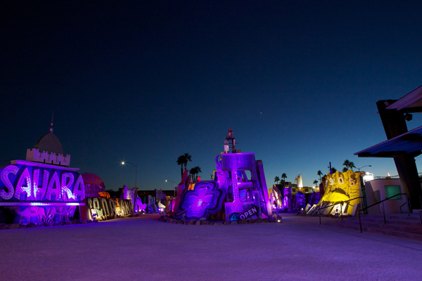 Glowing signs at the Neon Museum