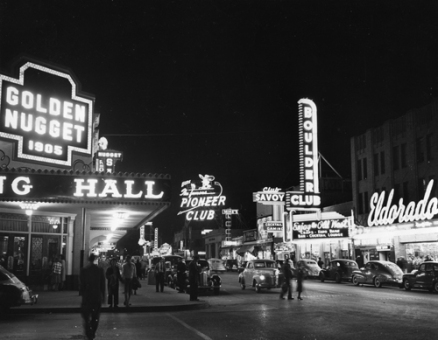 Fremont Street, 1950s — Cliff Segerbloom, Nevada State Museum, Las VegasJay Florian Mitchell Collection