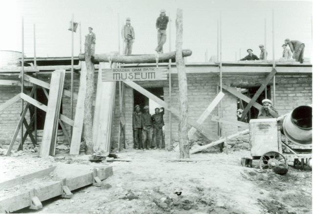 The Boulder City Museum (as it was known before the Lost City Musuem) being built, circa 1935.