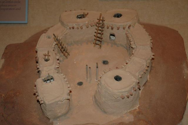 A model of Pueblos.
