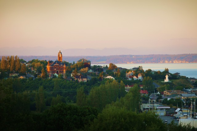 Beautiful Port Townsend at sunset.